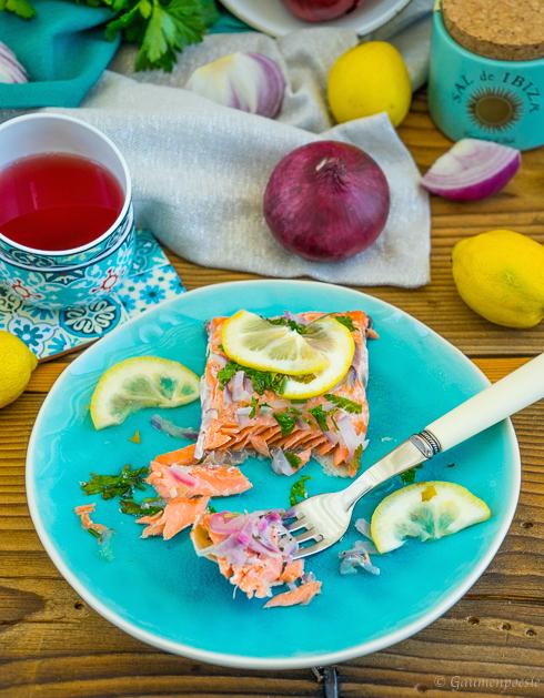 Ofenlachs – Lachsfilet mit Petersilie und Zitrone