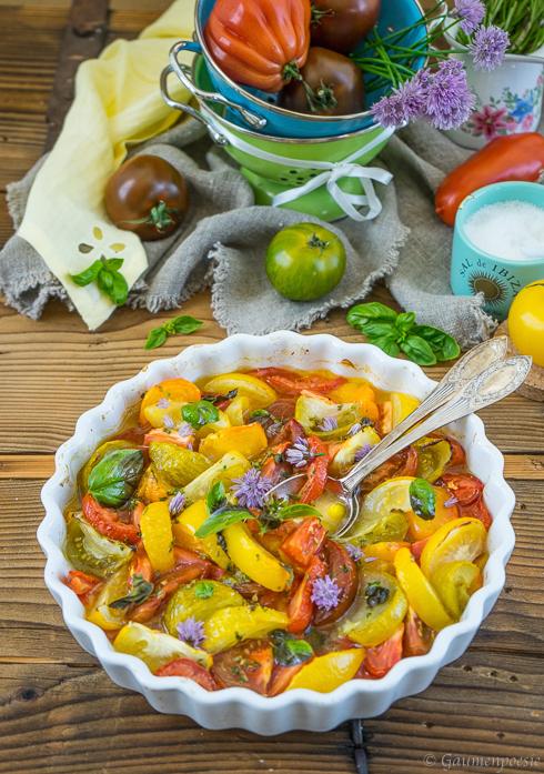 Ofengerösteter Tomatensalat