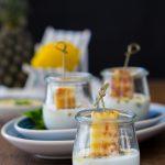 Gegrillte Ananas mit Pesto und Joghurt 1