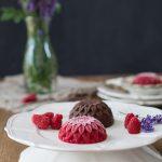Himbeer Eis Blumen mit Schokolade 1