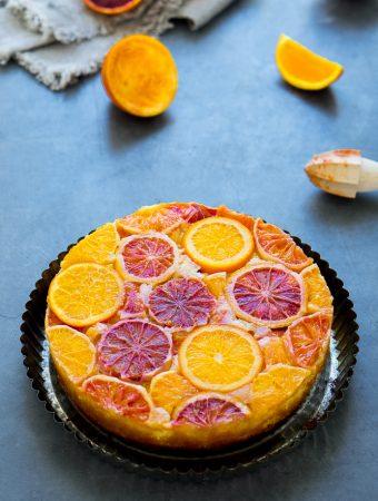 Upside-Down Cake mit Zitrusfrüchten