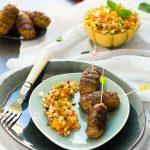 Orientalische Hackfleisch-Spießchen mit Melonen-Salsa 1