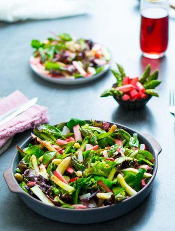 Sommerlicher Rhabarber-Spargel-Salat 1