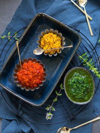 Paprika-Antipasti mit Zitronenöl Beitragsbild