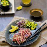 Gegrillter Sesam-Thunfisch mit asiatischem Gurkensalat 1