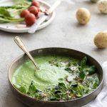 Vogerlsalat-Suppe mit Kresse und Radieschen 1
