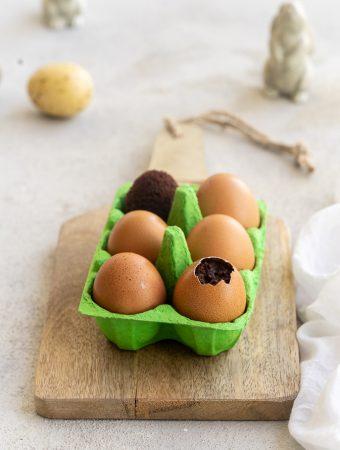 Brownie-Ostereier 1