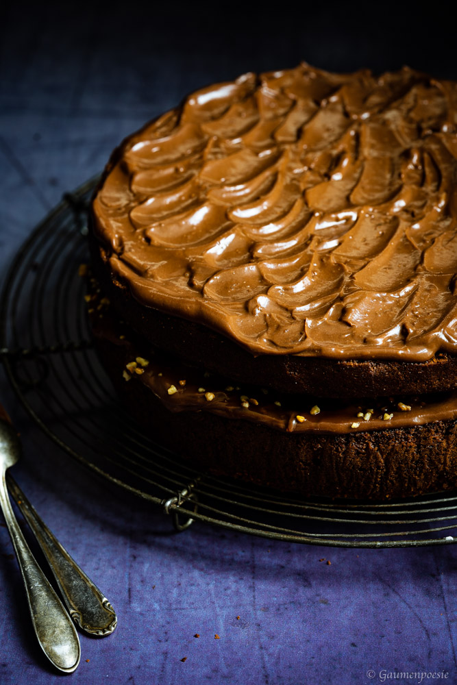 Schokoladen-Bananenkuchen mit Karamell 3